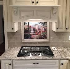 Tile Murals For Kitchen Kitchen Ceramic Tile Garden Artwork On Tile Af Fountain Garden