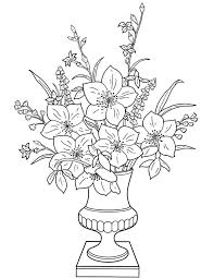 We'll add more colors to these flash cards later… peacock green, peach or salmon pink, lemon yellow, olive. Flowers In A Vase Coloring Page For Kids Free Printable Picture