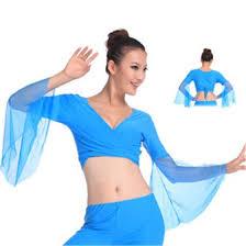 Shop <b>2017 Hot</b> popular <b>sexy</b> women chiffon lake blue belly dance ...