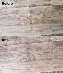 repair damaged wood floors trim in your rv