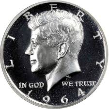 1964 Accent Hair 50c Pf Kennedy Half Dollars Ngc