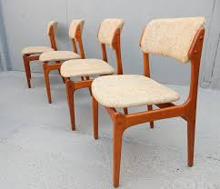 beautiful set of six danish dining chairs designed by erik buch for o d møbler of denmark