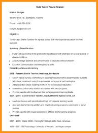 Resume Format For School Teacher Braille Teaching Job In Pdf