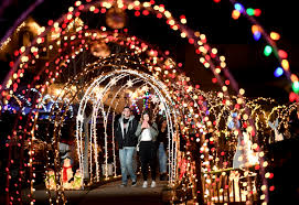 East Bay Christmas Lights Displays Tunnels Of Joy Lighted Neighborhood Raises Money For Ill Teen