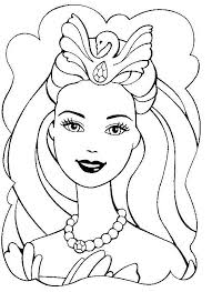 Small Picture Barbie Coloring Pages Girls Coloring Pages Barbie Queen Girls