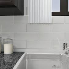 white glass subway tiles.  White SomerTile 4x12inch Reflections Grand Subway Ice White Glass Wall Tile 30  Tiles For Tiles _
