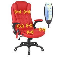 red leather office chair. RIO RED RECLINING MASSAGE LEATHER OFFICE CHAIR W 6 POINT HIGH BACK COMPUTER DESK 360 SWIVEL Red Leather Office Chair