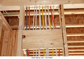 electrical wiring in new home stock photos electrical wiring in electrical wiring in new home construction stock image