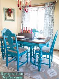 blue dining room set. DiningSet Blue Dining Room Set -