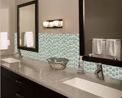 Crystal Glass Mosaic Tile Backsplash Bathroom Mirror Wall Tiles Classy Tile Backsplash In Bathroom