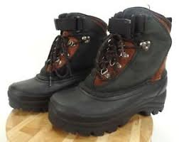 Details About Lands End Mens Waterproof Insulated Nubuck Suede Rubber Duck Boots Size 7m