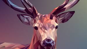 low poly ilration deer