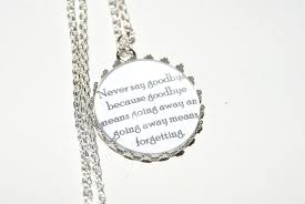 personalised necklace pendant e peter pan tinkerbell wendy disney