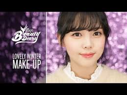 pony s beauty diary lovely winter make up with subs ëŸ ë