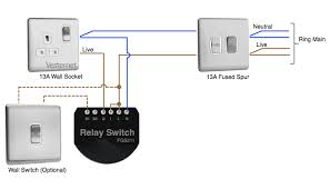 apnt fibaro relay to control a wall socket vesternet controlling the socket a fibaro relay wired via a fused spur
