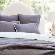 Charcoal Reversible Quilt and Shams | Crane & Canopy & Bedroom inspiration and bedding decor | The Reversible Pick-Stitch Charcoal  Grey Quilt & Sham Adamdwight.com