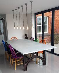 long dining room tables. Vintage Industrial Dining Table With Distressed Zinc Top @ 2700mm Long X 1300mm Wide. Room Tables