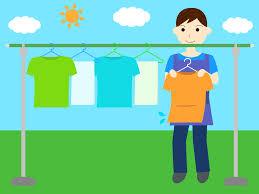 洗濯物を干す男性と女性の無料イラスト Aiepspng カフィネット