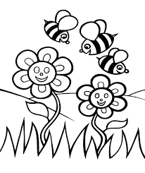 Flowers Printable Coloring Pages Printable Color Pages For Spring