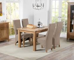 dining room table and fabric chairs. Cheadle 120cm Oak Extending Dining Table With Henley Fabric Chairs Room And R