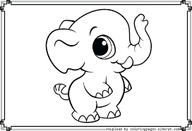 Elephant Color Page Baby Elephant Coloring Pages In Amusing To