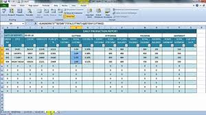 Daily Production Report In Excel