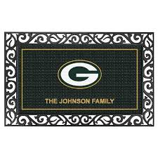 the green bay packers personalized wele mat main3