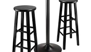 swivel round circular black adjule height set chairs and wood pub bistro sets rounds table style