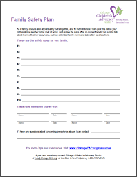 sample safety plan template safety plan template