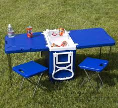 cooler with fold out table and chairs mini picnic table cooler enlarge image