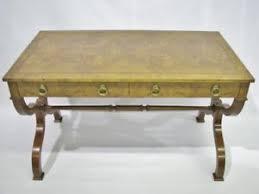 Image Is Loading BakerFurnitureRegencyStyleBurlwoodVeneerWritingDesk Regency Style Furniture87
