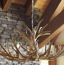 real antler chandelier