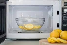 magnetron reinigen met citroen