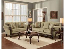 Traditional Sofas Living Room Furniture Affordable Furniture 8500 Traditional Sofa With Exposed Wood