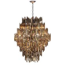 eurofase vienna collection 28 light chrome chandelier with crystal shade