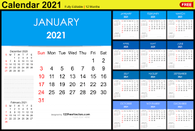 Download the floral version and the minimalist version from the links below Free Editable Monthly Calendar Template 2021