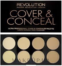 um dark Консилер для лица makeup revolution ultra cover and conceal palette фото light