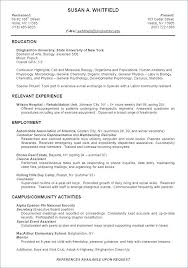 Student Job Resume Template – Resume Letter Collection