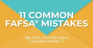 Fafsa Income Eligibility Chart 2015 11 Common Fafsa Mistakes Ed Gov Blog Via Fsa