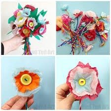 Paper Flower Bouquet For Wedding Tissue Paper Flower Bouquet Red Ted Art