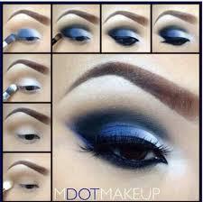 smokey blue eyeshadow tutorial