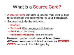 Research Sources For your research paper