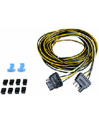 boat trailer wiring harnesses iboats com wesbar 4 pin 5 wire diagram wesbar 4 way flat 25' trailer end with 4' car end and hardware