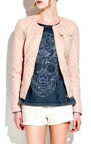 light pink leather jackets quilted jacket in dusty pink light pink leather jacket zara
