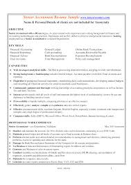 resume format for experienced accountant senior accountant resume format templates at