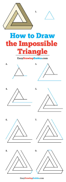 Triangle Design Drawing Easy How To Draw The Impossible Triangle Drawing Tutorials For