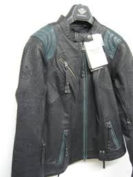 harley davidson new women s leather jacket w teal accents size m