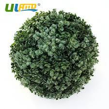 Decorative Boxwood Balls ULAND Artificial Boxwood Balls Plastic Tree Plants Kissing Balls 59