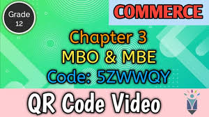 Management by objectives (mbo) is a principle or practice of management that empowers employees. 12th Commerce Unit 1 Chapter 3 Mbo And Mbe Qr Code Video Youtube