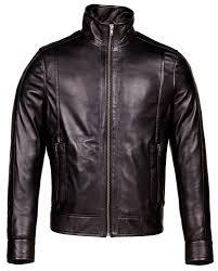 black corbani genuine urban racer leather jacket front